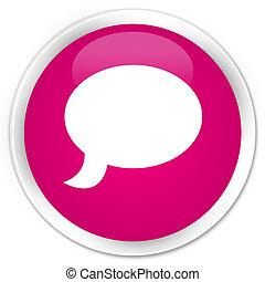 Chat icon premium pink round button