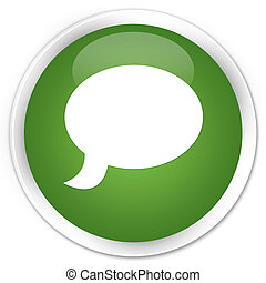 Chat icon premium soft green round button