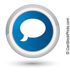 Chat icon prime blue round button