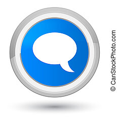 Chat icon prime cyan blue round button