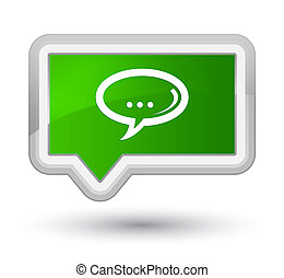 Chat icon prime green banner button