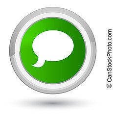 Chat icon prime green round button