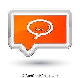 Chat icon prime orange banner button