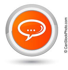 Chat icon prime orange round button