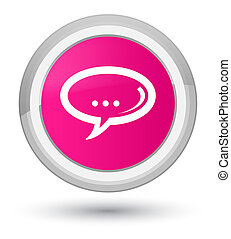 Chat icon prime pink round button
