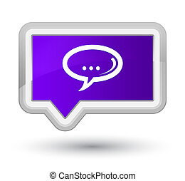 Chat icon prime purple banner button