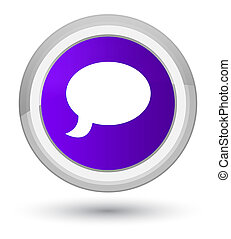 Chat icon prime purple round button