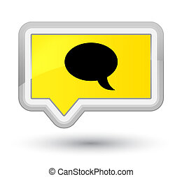 Chat icon prime yellow banner button