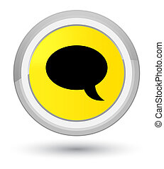 Chat icon prime yellow round button