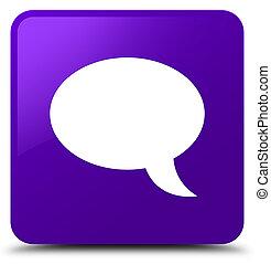 Chat icon purple square button