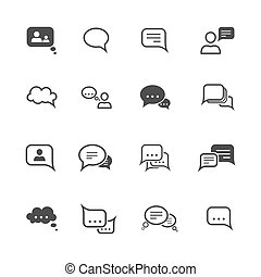 Chat icon set