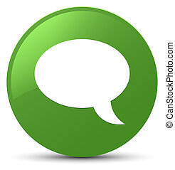 Chat icon soft green round button