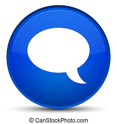 Chat icon special blue round button