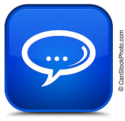 Chat icon special blue square button