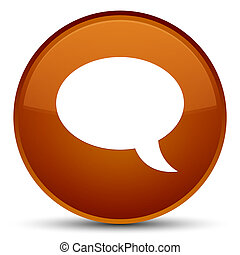 Chat icon special brown round button