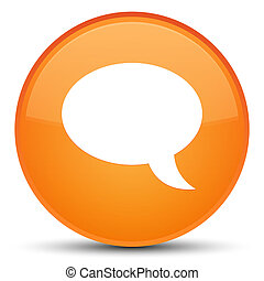 Chat icon special orange round button