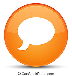 Chat icon special orange round button