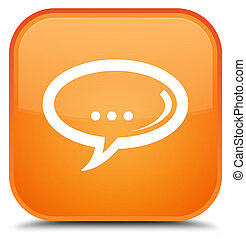 Chat icon special orange square button