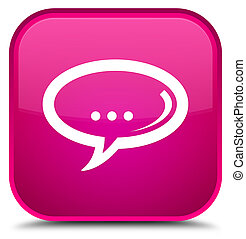 Chat icon special pink square button