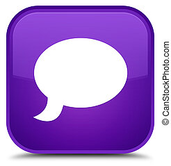 Chat icon special purple square button