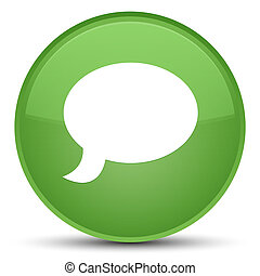 Chat icon special soft green round button