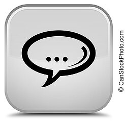 Chat icon special white square button