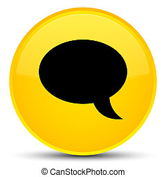 Chat icon special yellow round button
