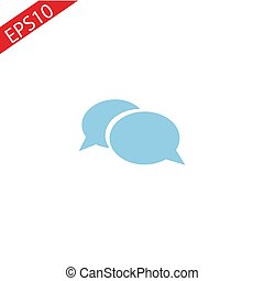 chat icon vector illustration. Flat design style