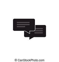 Chat icon vector isolated, messages concept, sms or chatting symbol