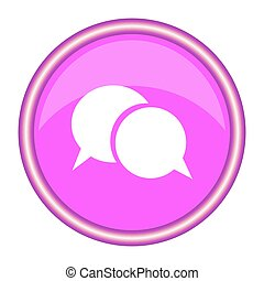 Chat icon vector. Pink background