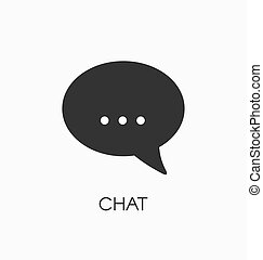 Chat icon vector sign