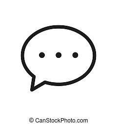 Chat icon vector. Simple chat sign in modern design style for web site and mobile app. EPS10