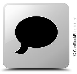 Chat icon white square button