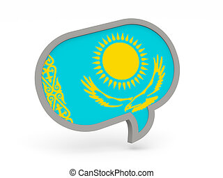 Chat icon with flag of kazakhstan
