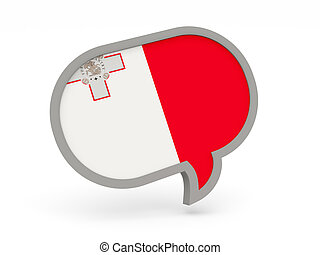 Chat icon with flag of malta