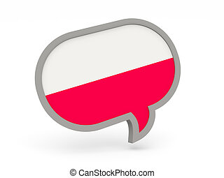Chat icon with flag of poland