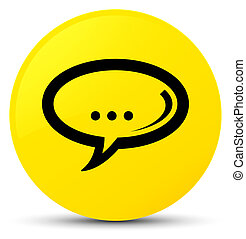 Chat icon yellow round button