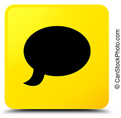 Chat icon yellow square button