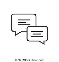 Chat line icon on a white background