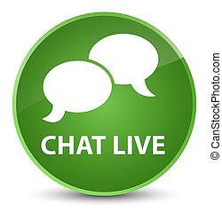 Chat live elegant soft green round button