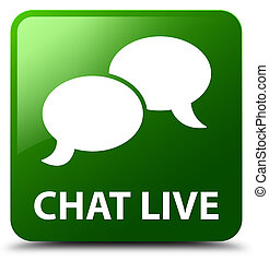 Chat live green square button