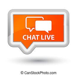 Chat live prime orange banner button
