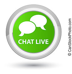 Chat live prime soft green round button