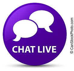 Chat live purple round button