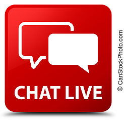 Chat live red square button