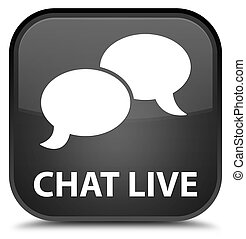 Chat live special black square button