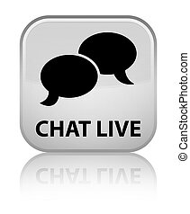 Chat live special white square button