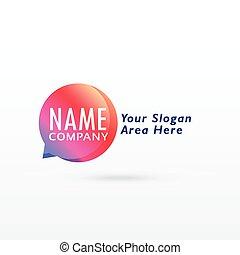chat logo concept vector design