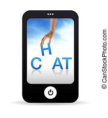 Chat Mobile Phone - High resolution Mobile phone graphic...