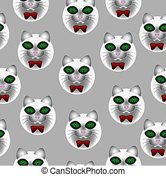 chat, muzzle., seamless, texture, consister